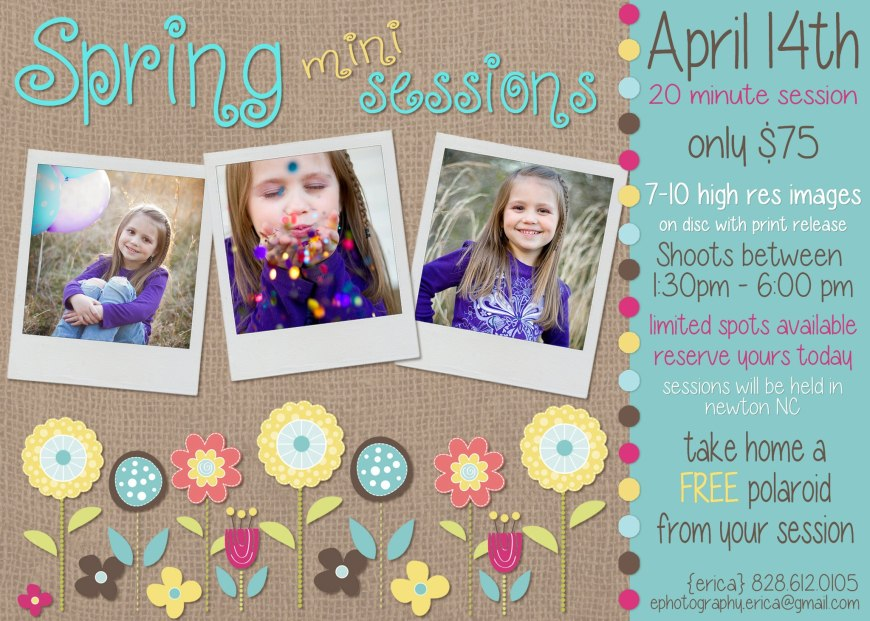 Spring Mini Sessions!